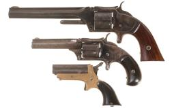 Three Antique American Cartridge Handguns -A) Smith & Wesson No.