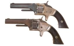 Two Smith & Wesson Antique Tip-Up Revolvers
