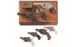 Seven Double Action Revolvers