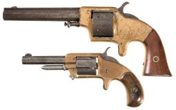 Two Antique American Spur Trigger Revolvers