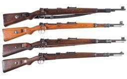Four Military Mauser Bolt Action Rifles