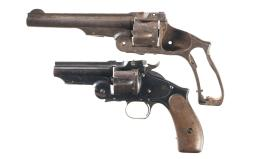 Two Smith & Wesson Model 3 Russian Single Action Revolvers