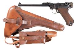 DWM 1914 Dated Police Luger with Artillery Barrel