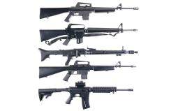 Five Semi-Automatic .22 LR Longarms