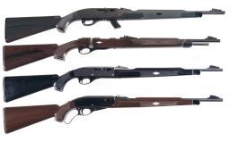 Four Remington Nylon Sporting Rifles