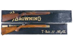 Two Browning Bolt Action Rifles with Boxes