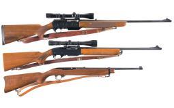 Three Semi-Automatic Rifles