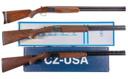 Three Engraved Over/Under Shotguns