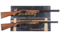 Two Browning Superposed Shotguns with Original Boxes