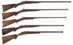 Five Double Barrel Shotguns