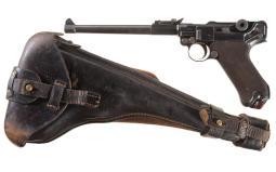DWM Artillery Luger Pistol with Shoulder Stock