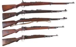 Five Bolt Action Military Rifles
