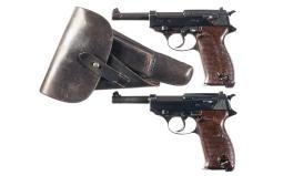 Two P-38 Semi-Automatic Pistols