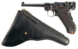 DWM 1906 Portuguese M2 Luger Semi-Automatic Pistol with Holster