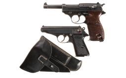 Two Nazi German Semi-Automatic Pistols