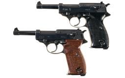 Two German P-38 Semi-Automatic Pistols