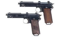 Two Steyr Model 1911 Semi-Automatic Pistols