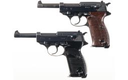 Two World War II P-38 Semi-Automatic Pistols