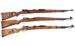 Three European Military Bolt Action Rifles