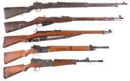 Five Military Rifles