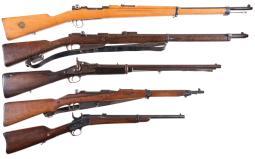 Five Military Longarms