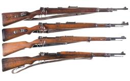 Four Military Bolt Action Rifles