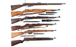 Six Military Longarms