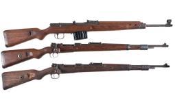 Three German Military Rifles