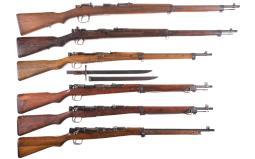 Six Japanese Bolt Action Military Rifles
