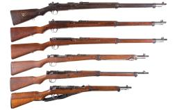 Six Japanese Bolt Action Military Longarms