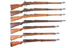 Seven Japanese Bolt Action Military Rifles
