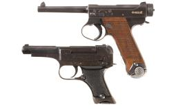 Two Japanese Semi-Automatic Military Pistols