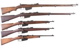 Five European Military Bolt Action Rifles