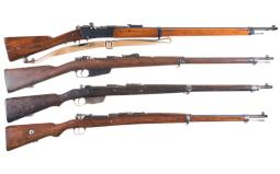 Four Bolt Action Military Rifles