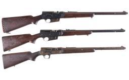 Three Remington Model 81 Semi-Automatic Rifles