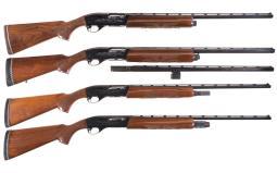Four Remington Model 1100 Semi-Automatic Shotguns
