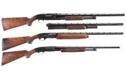Three Shotguns -A) Winchester Model 12 Slide Action Shotgun