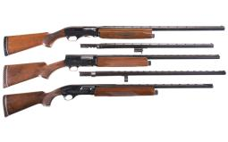 Three Engraved Semi-Automatic Shotguns