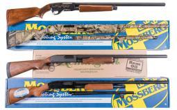 Four Slide Action Shotguns -A) Savage Model 30 Series B Shotgun