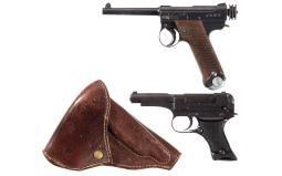 Two Japanese Semi-Automatic Pistols