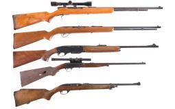 Five Semi-Automatic Sporting Rifles
