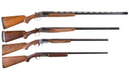 Four Single Barrel Shotguns