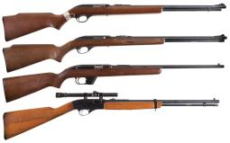 Four Semi-Automatic Rifles
