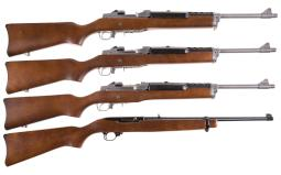 Four Ruger Semi-Automatic Carbines