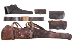 RIA Rifle Scabbard and Indian War Era Holster Rig