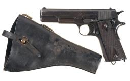 British Proofed Colt Government Model Pistol with Holster