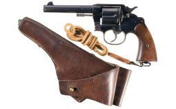 U.S. Colt Model 1909 Double Action Revolver with Holster