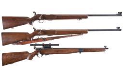 Three Bolt Action Target Rifles