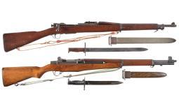 Two U.S. Springfield Rifles, 1903/M1 Garand