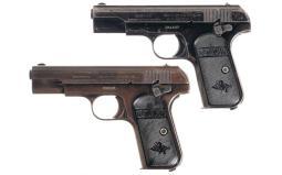 Two Colt 1903 Pocket Hammerless Pistols